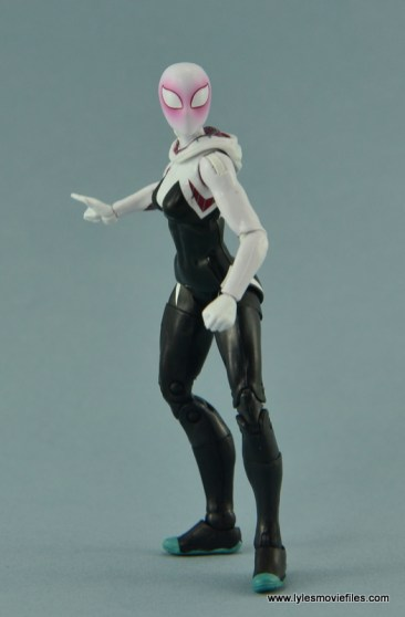 Marvel Legends Spider-Gwen figure review - hood down