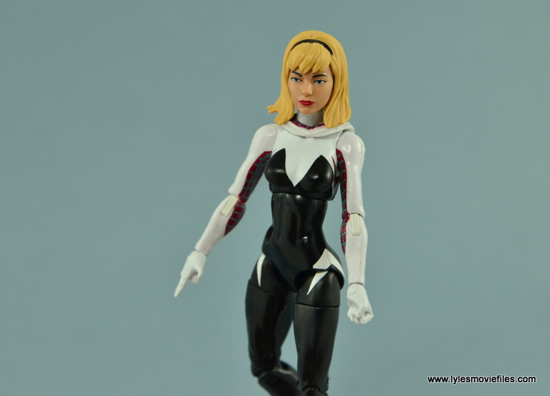 Marvel Legends Spider-Gwen figure review - mask off Gwen Stacy head