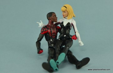 Marvel Legends Spider-Gwen figure review - relaxing with Miles Morales