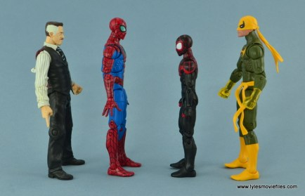 Marvel Legends Spider-Man and Mary Jane Watson figure review - Spider-Man scale with J Jonah Jameson, Miles Morales and Iron Fist