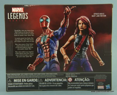 Marvel Legends Spider-Man and Mary Jane Watson figure review - package rear