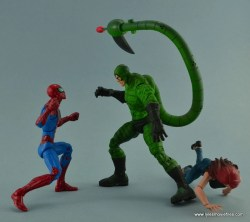 Marvel Legends Spider-Man and Mary Jane Watson figure review - vs Scorpion