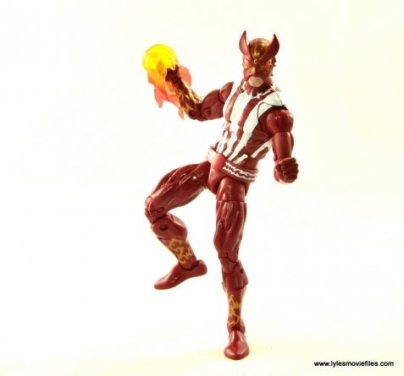 Marvel Legends Sunfire figure review -balancing on one leg