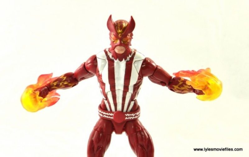Marvel Legends Sunfire figure review -close up