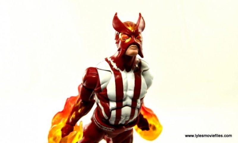 Marvel Legends Sunfire figure review -flying forward