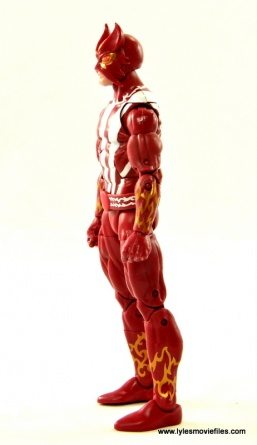 Marvel Legends Sunfire figure review -left side