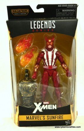 Marvel Legends Sunfire figure review - package front