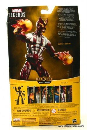 Marvel Legends Sunfire figure review -package rear