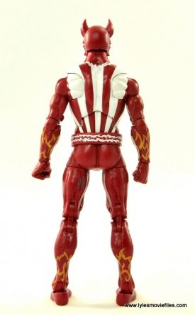 Marvel Legends Sunfire figure review -rear
