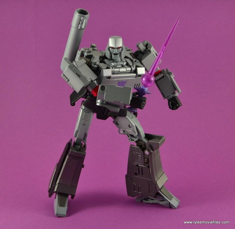 Transformers Masterpiece Megatron figure review -holding laser sword