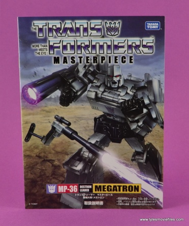 Transformers Masterpiece Megatron figure review -instruction book