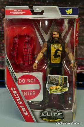 WWE Elite 48 Cactus Jack figure review -package front
