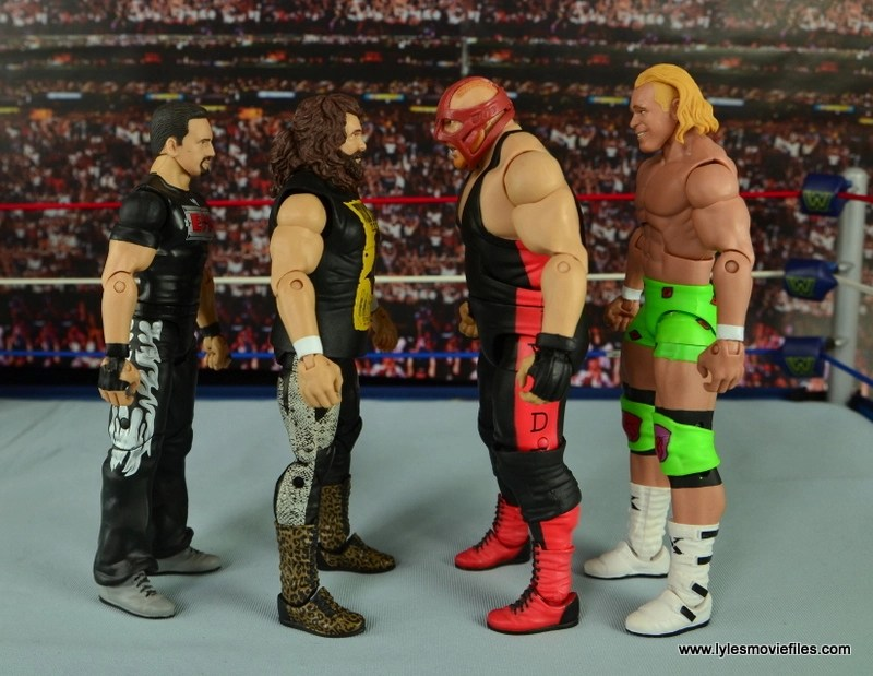 WWE Elite 48 Cactus Jack figure review -scale with Tommy Dreamer, Vader and Billy Gunn