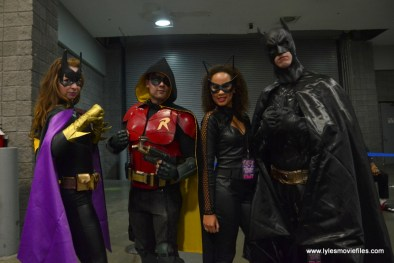 Awesome Con 2017 Day 2 cosplay - Batgirl, Robin, Catwoman and Batman
