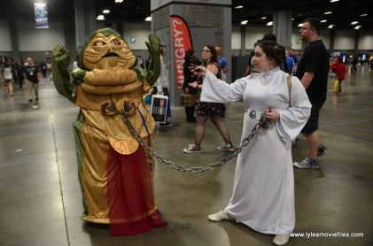 Awesome Con 2017 Day 2 cosplay -Slave Jabba and Princess Leia