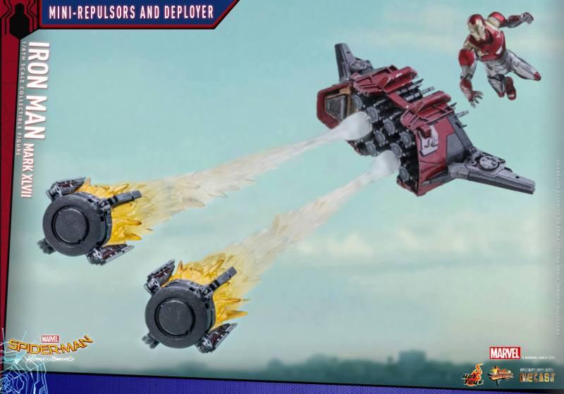 Hot Toys Iron Man Mark 47 figure - drone firing
