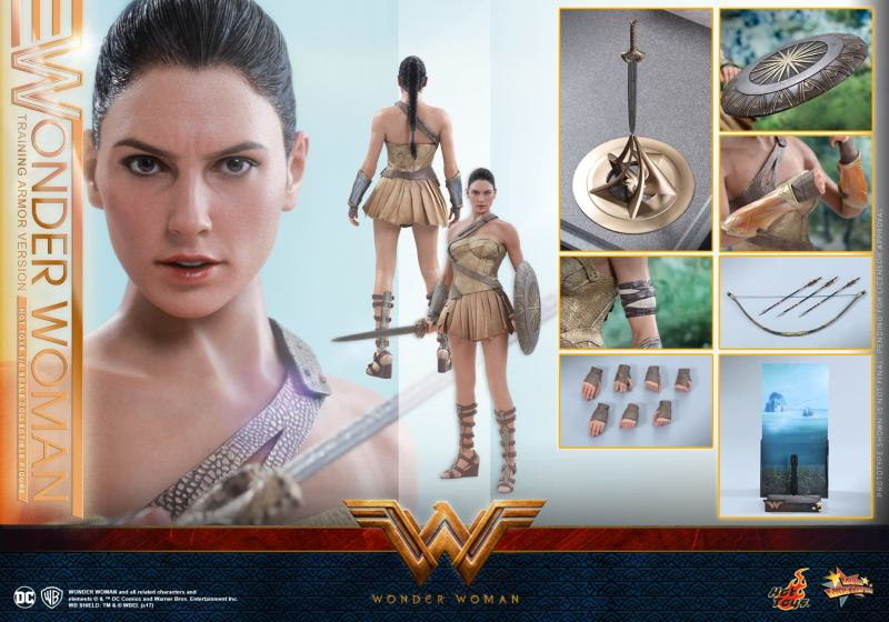Hot Toys Wonder Woman Training Armor Version -collage