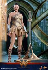 Hot Toys Wonder Woman Training Armor Version - standing at Godkiller base
