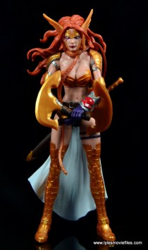 Marvel Legends Angela figure review -axes close