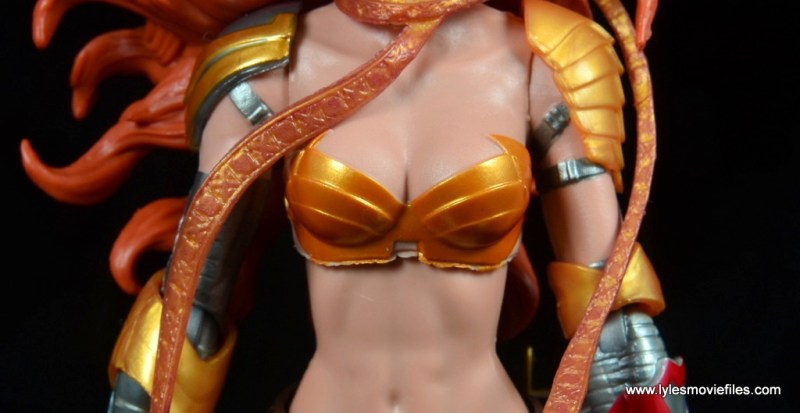 Marvel Legends Angela figure review - chestplate detail
