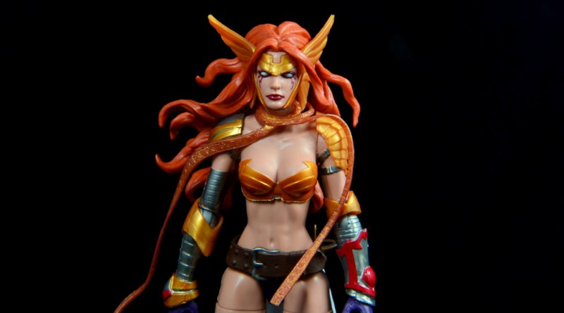 Marvel Legends Angela figure review -main pic