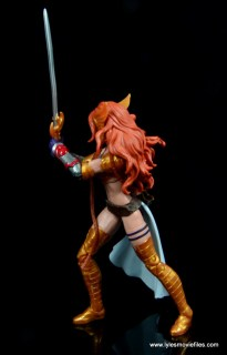 Marvel Legends Angela figure review -twisting to the side