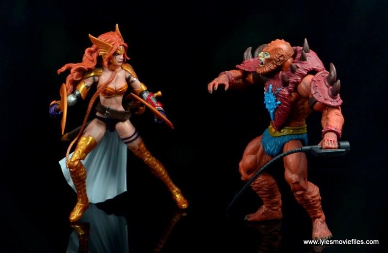 Marvel Legends Angela figure review -vs Beast Man