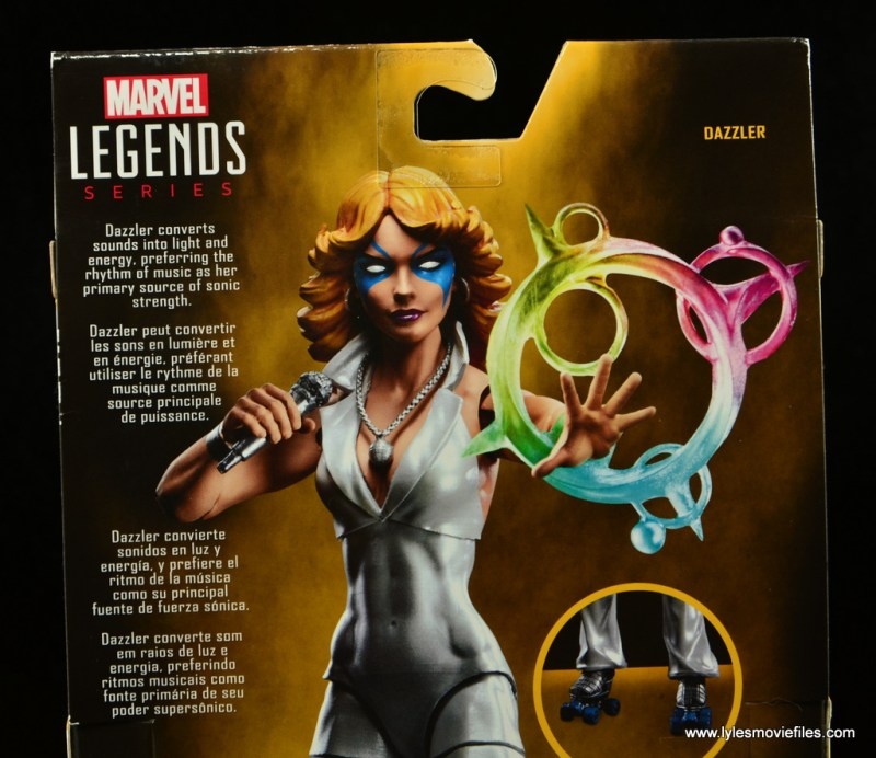 Marvel Legends Dazzler figure review -bio