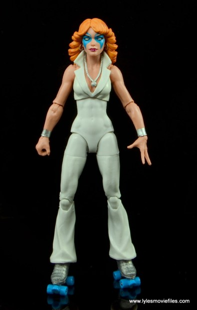 Marvel Legends Dazzler figure review -front side