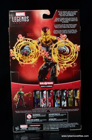Marvel Legends Shocker figure review -package rear