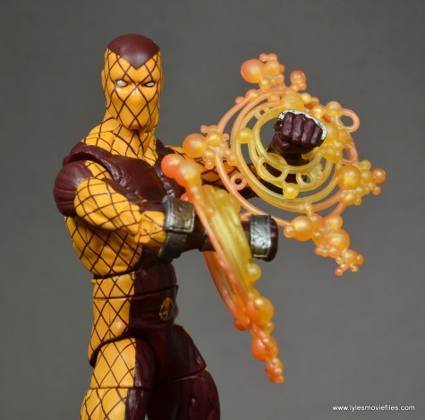 Marvel Legends Shocker figure review -power effect close up