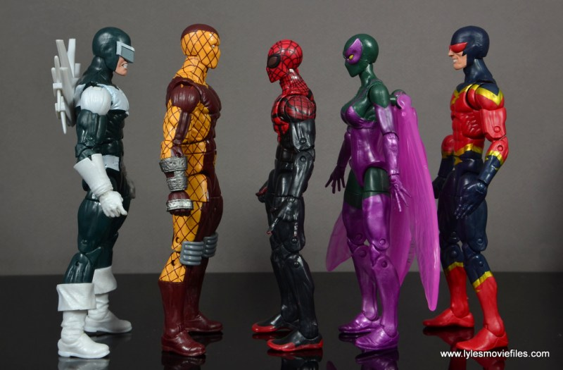Marvel Legends Shocker figure review - scale with Boomerang, Superior Spider-Man, Beetle and Speed Demon