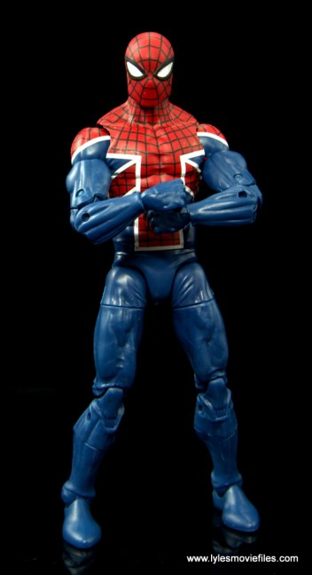 Marvel Legends Spider-Man UK figure review - arms crossed