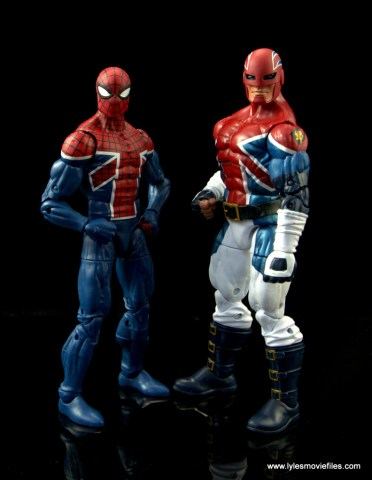 Marvel Legends Spider-Man UK figure review - hanging with Captain Britain
