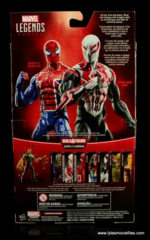 Marvel Legends Spider-Man UK figure review - package rear