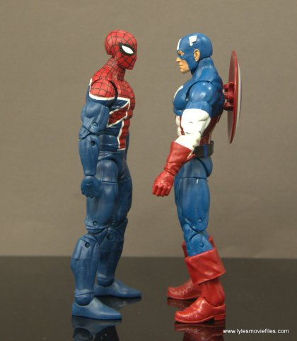 Marvel Legends Spider-Man UK figure review - scale with Captain America