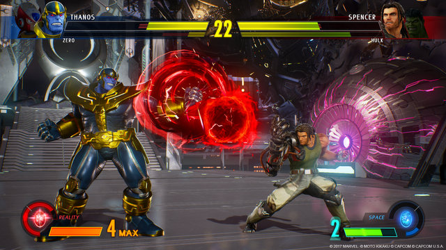 Marvel vs Capcom Infinite Thanos vs Spencer