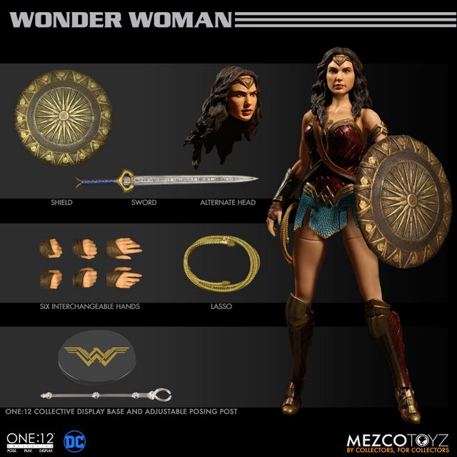 Mezco Toyz One 12 Wonder Woman figure - collage
