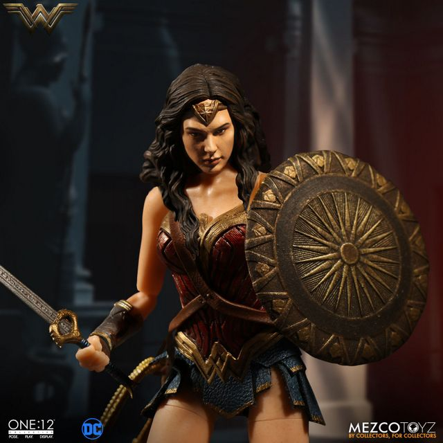 Mezco Toyz One 12 Wonder Woman figure - with shield and sword