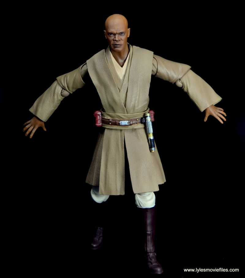 SH Figuarts Mace Windu figure review - arms out