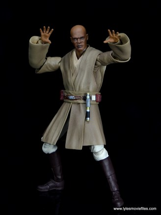 SH Figuarts Mace Windu figure review - using the Force