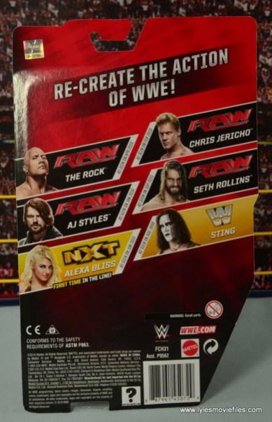 WWE Basic Alexa Bliss figure review - package rear