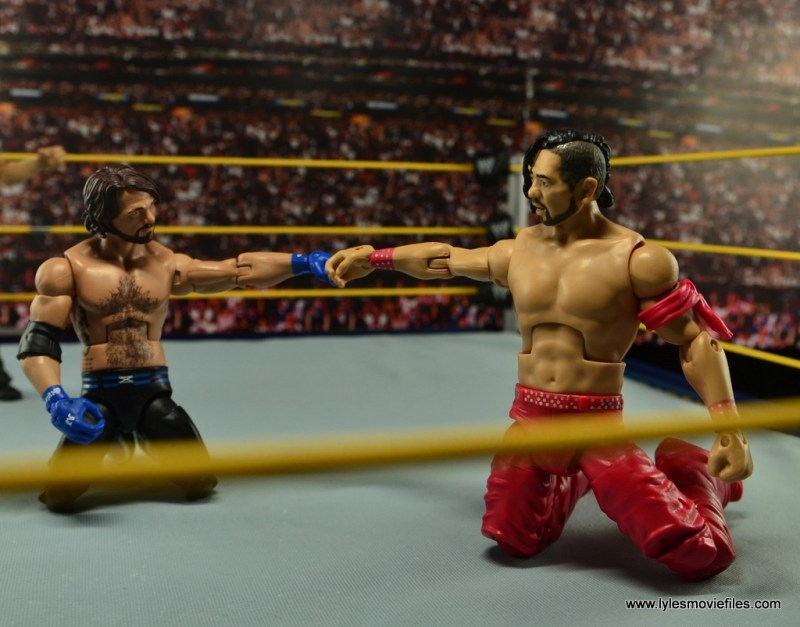 WWE Defining Moments Shinsuke Nakamura figure review -Wrestle Kingdom show of respect to AJ Styles