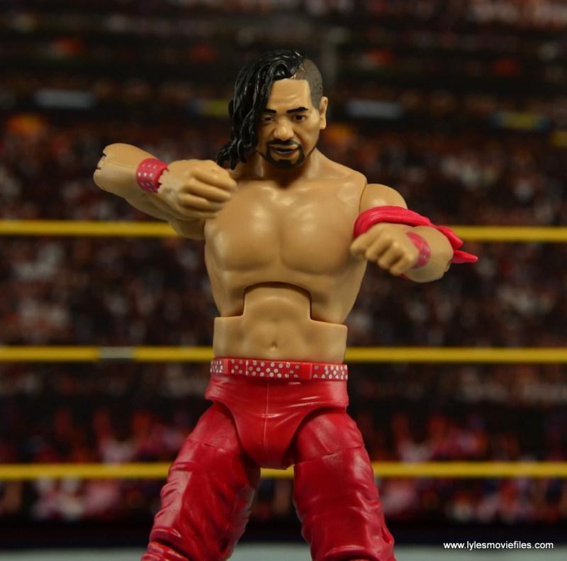 WWE Defining Moments Shinsuke Nakamura figure review -arms cross pose