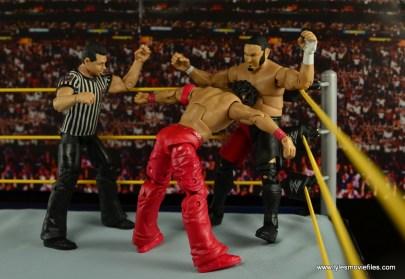 WWE Defining Moments Shinsuke Nakamura figure review -corner rope taunt to Samoa Joe