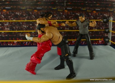 WWE Defining Moments Shinsuke Nakamura figure review -knee smash to Samoa Joe