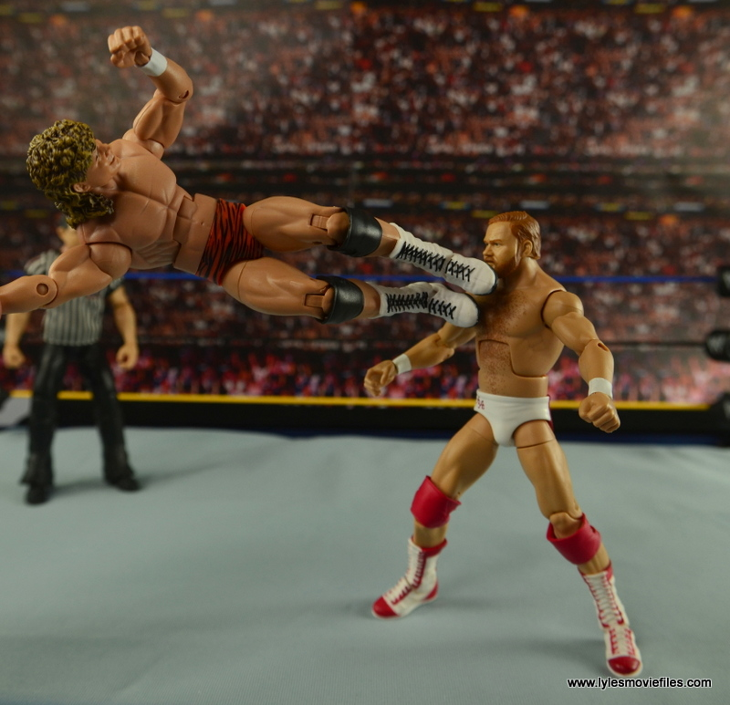 WWE Elite Flyin Brian figure review - dropkick to Arn Anderson