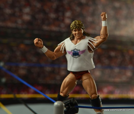 WWE Elite Flyin Brian figure review -on turnbuckle