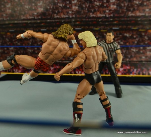 WWE Elite Flyin Brian figure review -spinning elbow to Ric Flair
