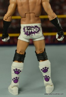 WWE Elite Tyson Kidd figure review -close up of rear details